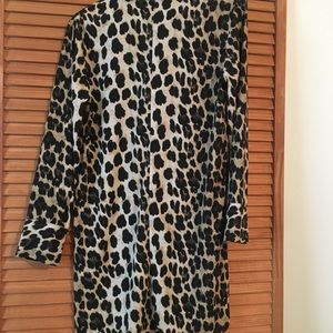 Shirt dress leopard never used .
